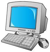 Cartoon desktop computer — Stock Vector