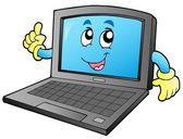 Kreslený usmívající se notebook — Stock vektor