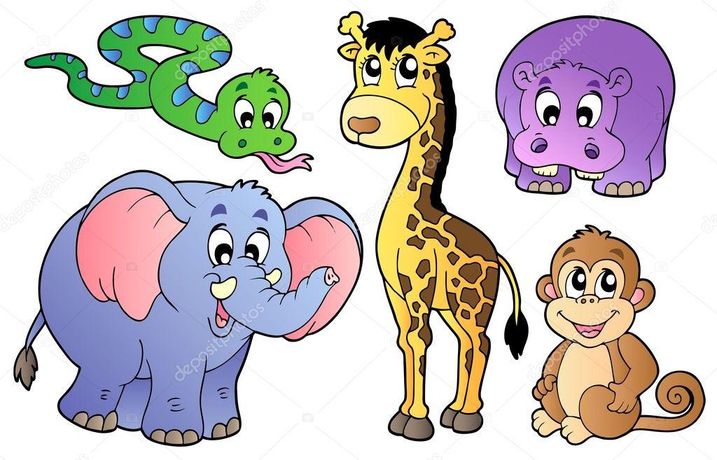 可爱的非洲动物一组
