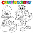 Royalty-Free Stock Vector Image: Coloring book with various cats 1