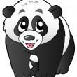 Cute small panda — Stockvectorbeeld