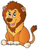 Cartoon sitting lion — Stock Vector