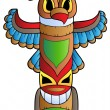 Tall Indian totem — Stock Vector #5595143