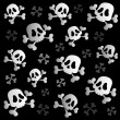 Stock Vector: Pirate skulls and bones