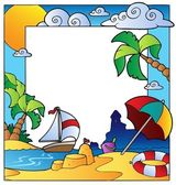 Frame with summertime theme 1 — Stock Vector