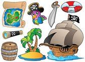 海盗的各种对象的集 — 图库矢量图片