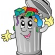 Cartoon trash can - Grafika wektorowa