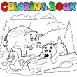 Coloring book with happy animals 2 — Stock Vector #6077094