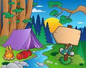 Cartoon forest landscape 6 — Stock Vector