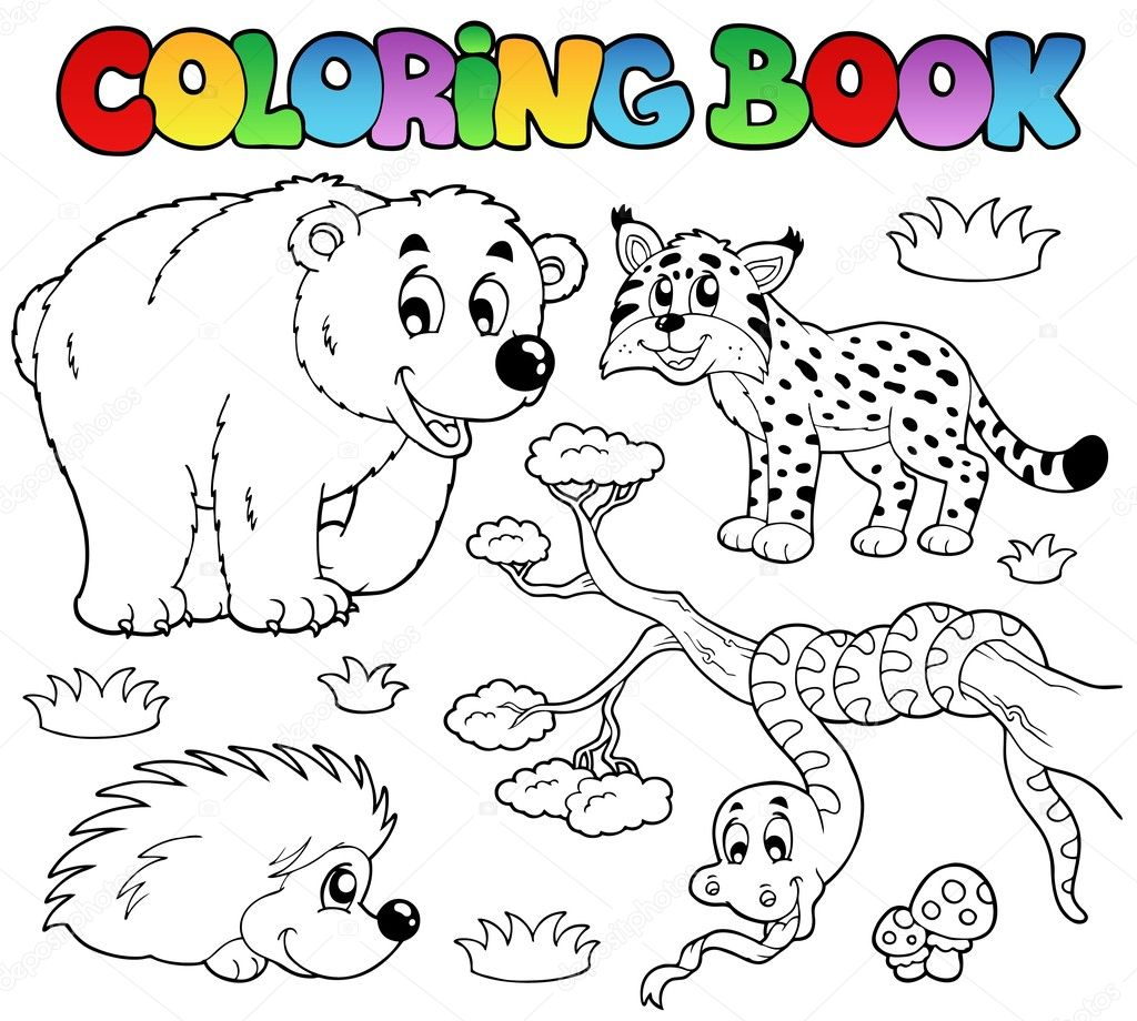 Раскраски животные на одном листе