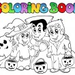 Coloring book Halloween topic 3 - Stock Vector