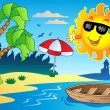 Summer theme image 4 - Stock Vector