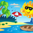 Stock Vector: Summer theme image 4