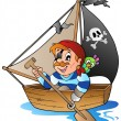 Stock Vector: Young cartoon pirate 1