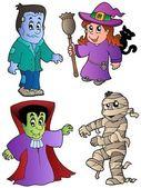 Cartoon Halloween characters 1 — Stock Vector