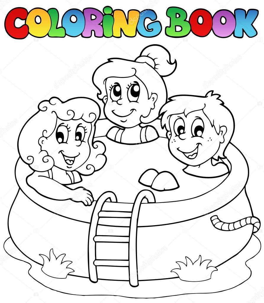 Раскраска в бассейне