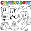 Stock Vector: Coloring book school cartoons 2