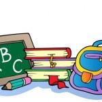 Various school supplies 1 — Stock Vector #6454124