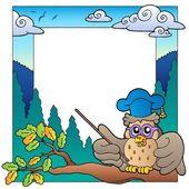 School theme frame 3 — Stock Vector