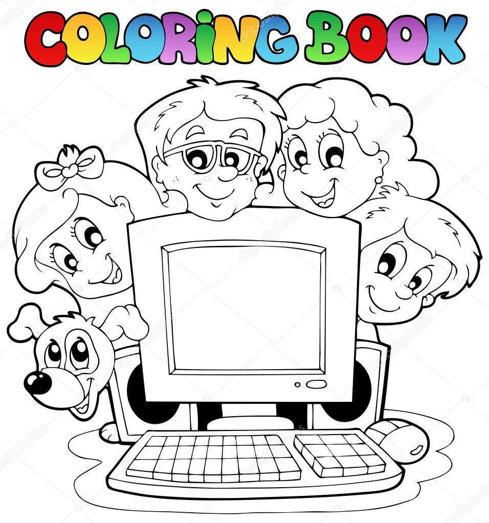 Компьютерные раскраски скачать бесплатно