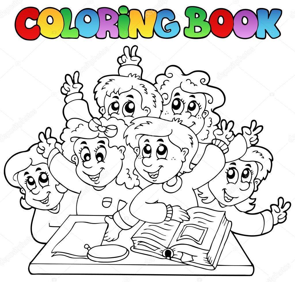 Класс с учениками раскраска