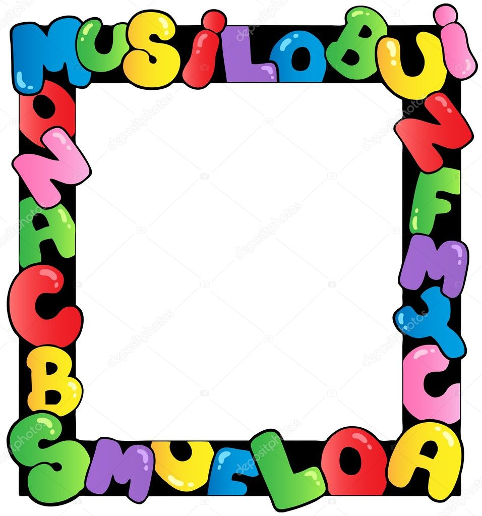 Depositphotos Stock Illustration Frame With Cartoon Letters Photo Number Character