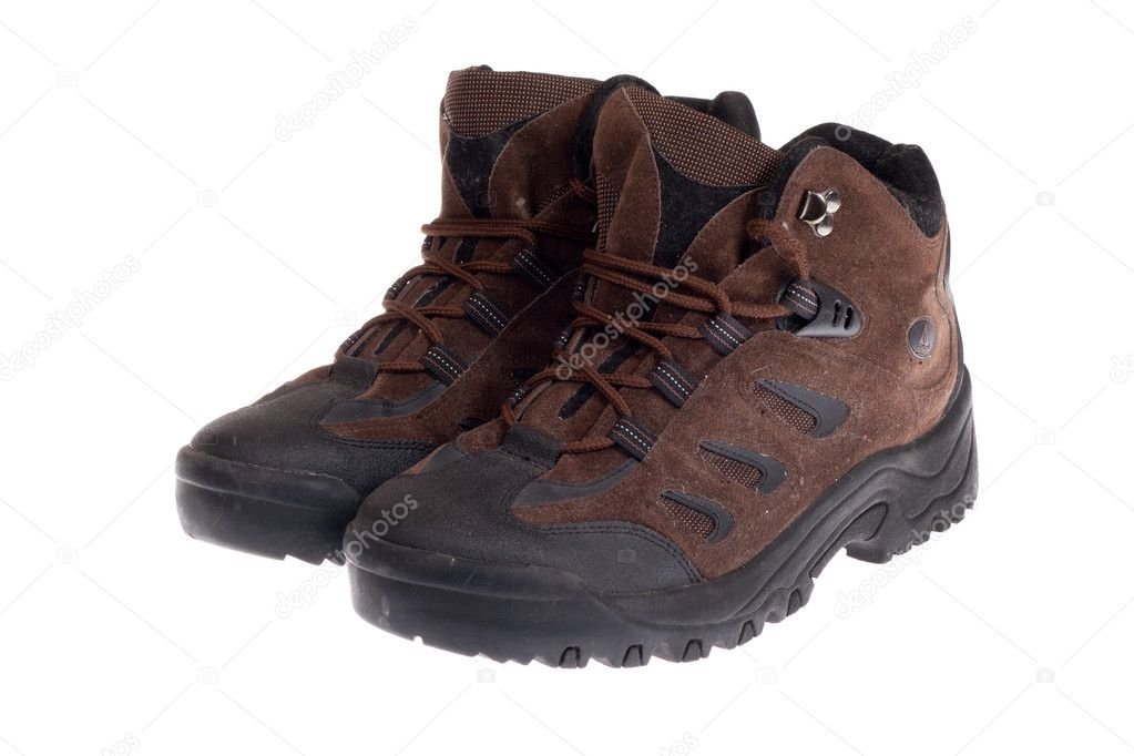 Hiking boot, photo on the white background  Stock Photo #5502644