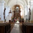 The altar of the old church - Stock Photo