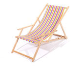 Wooden deck chair — Stock Photo