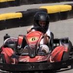 Driver on circuit — Stock Photo