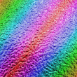 Royalty-Free Stock Photo: Abstract rainbow metallic surface, closeup metal background.