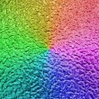 Abstract rainbow metallic surface, closeup metal background. — Stock Photo