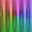 Abstract rainbow metal grid, texture closeup. — Stock Photo