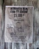 Wanted danger man, robber of banks, bandit, vintage paper. — Stock Photo