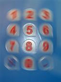 Numbers rotation, hurricane details. — Stock Photo