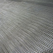 Silver metallic grid, industry details. - Foto de Stock