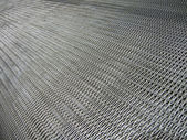 Silver metallic grid, industry details. — Foto de Stock