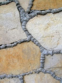Abstract stone wall, construction details. — Stock Photo
