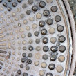 Abstract metal savage surface, metallic texture closeup. — Stock Photo
