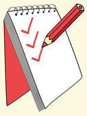 Verificación de lápiz — Vector de stock