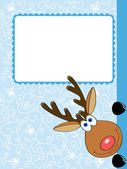 Xmas deer — Stock Vector
