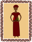 Kwanzaa woman — Stock Vector