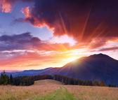 山の夜明け — ストック写真