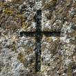 Stock Photo: Old cross at grave of 19th century.