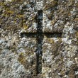 Old cross at grave of 19th century. - Stockfoto