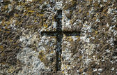 Old cross at grave of 19th century. — Stock Photo