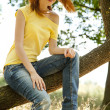 Redhead girl at summer park. — Stock Photo #5961520
