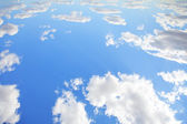 Blue sky for background at upside-down. — Stock Photo
