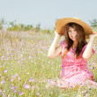 Retro style girl at countryside — Stock Photo #6072763