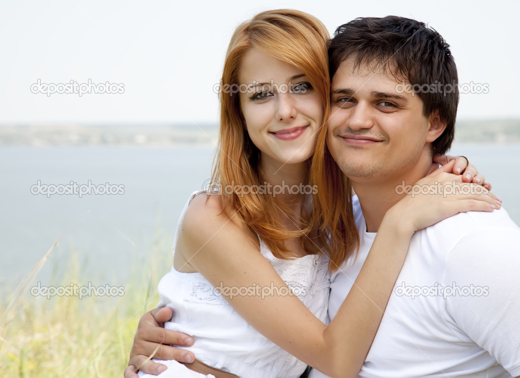 Young couple in the nature  Stock Photo #6124531